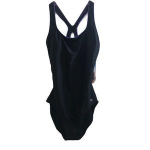 Speedo one piece swimsuit bathing suit size 14